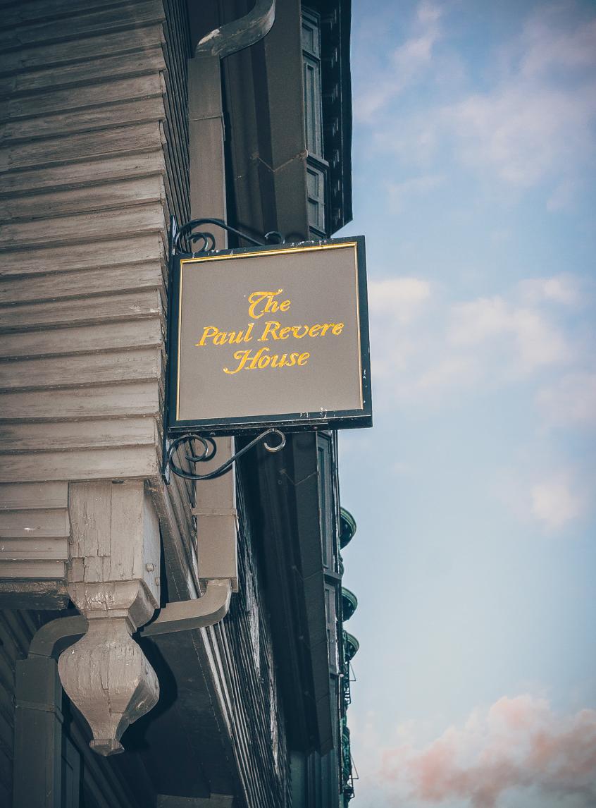 Paul Revere house sign