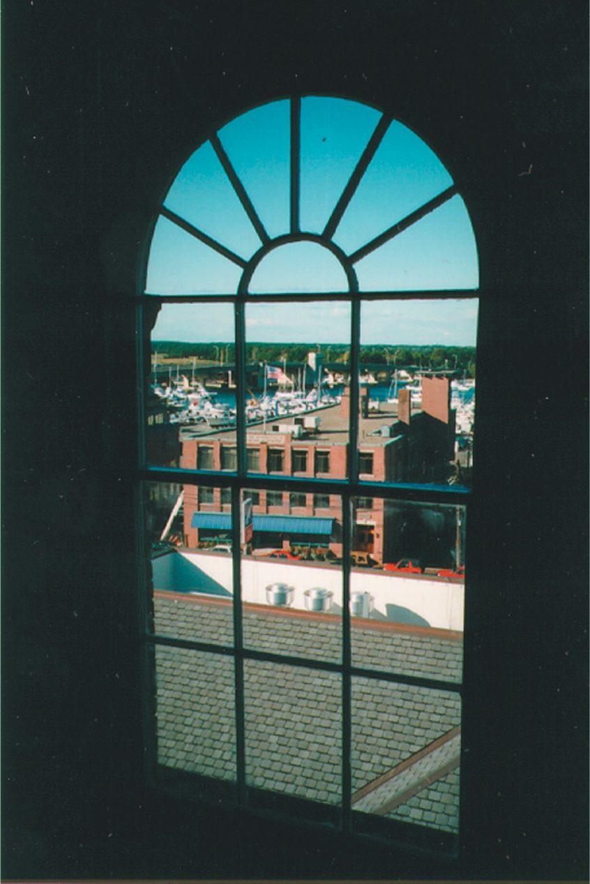 window overlooking city